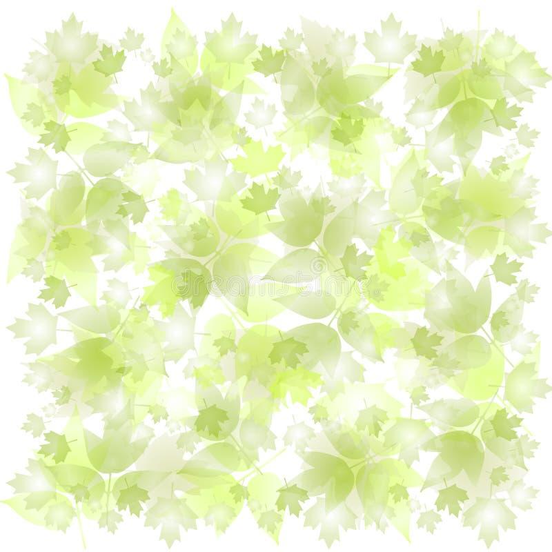 zgubiony zielone liście tło royalty ilustracja