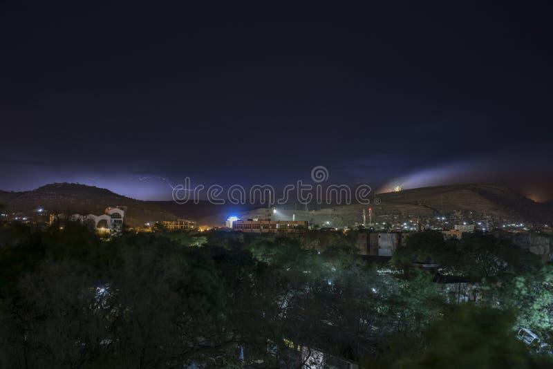 Zgubny Dawa, Etiopia przy nocą z błyskawicą zdjęcia royalty free