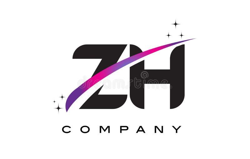 Zh z h black letter logo design with purple magenta swoosh stock download zh z h black letter logo design with purple magenta swoosh stock vector illustration of altavistaventures Image collections