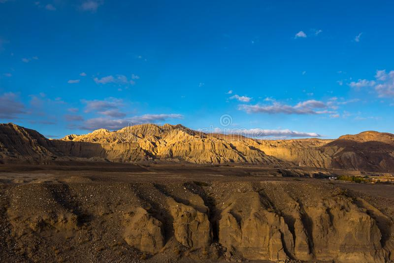Zhada Soil Forest and Ruins of Guge Kingdom. The beautiful scenery can be seen everywhere when we travelling in Ngari Prefecture of Tibet autonomous region of royalty free stock image