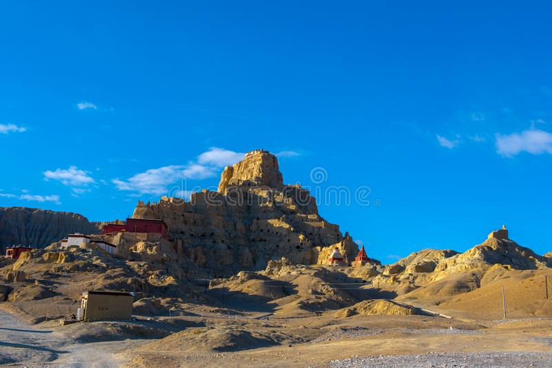 Zhada Soil Forest and Ruins of Guge Kingdom. The beautiful scenery can be seen everywhere when we travelling in Ngari Prefecture of Tibet autonomous region of royalty free stock photo