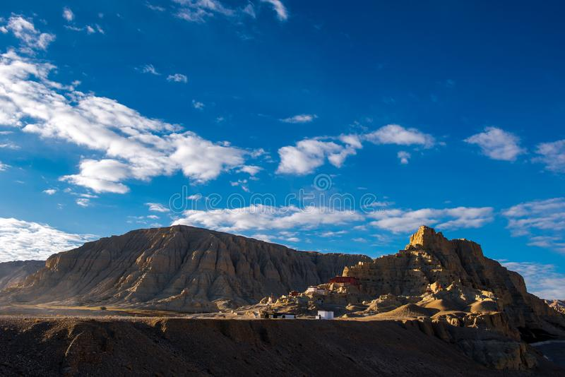 Zhada Soil Forest and Ruins of Guge Kingdom. The beautiful scenery can be seen everywhere when we travelling in Ngari Prefecture of Tibet autonomous region of royalty free stock images