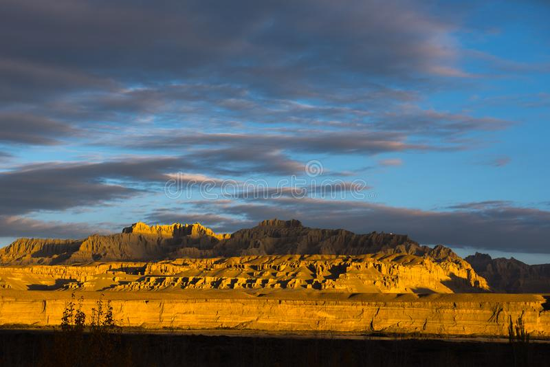 Zhada Soil Forest and Ruins of Guge Kingdom. The beautiful scenery can be seen everywhere when we travelling in Ngari Prefecture of Tibet autonomous region of royalty free stock photos