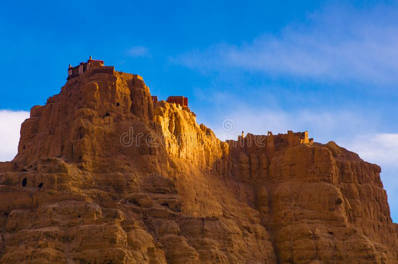 Zhada Soil Forest and Ruins of Guge Kingdom. The beautiful scenery can be seen everywhere when we travelling in Ngari Prefecture of Tibet autonomous region of royalty free stock photography