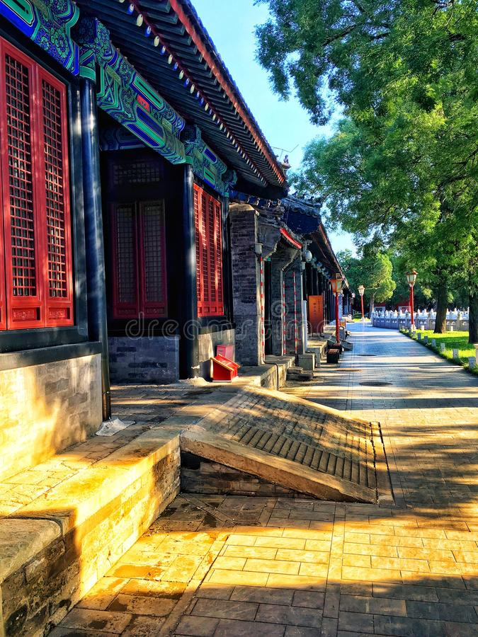 Zhaizi, vieux bâtiment de Pékin, Chine photographie stock