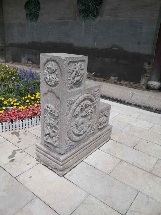 Zhang House  ofkina-sten häst royaltyfria bilder