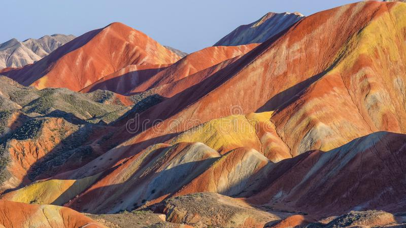 Zhang Yu colorful Danxia. The Danxia landform group in Zhangye, Gansu, China, commonly known as the `The Danxia landform group in Zhangye, Gansu, China, commonly
