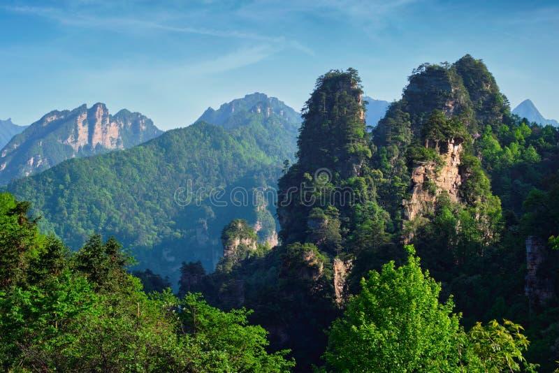 Zhangjiajie-Berge, China lizenzfreie stockbilder