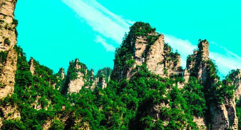 ZHANGJIAJIE, CHINE photo libre de droits
