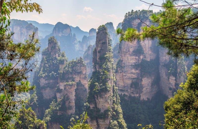 ZHANGJIAJIE, CHINE photographie stock libre de droits