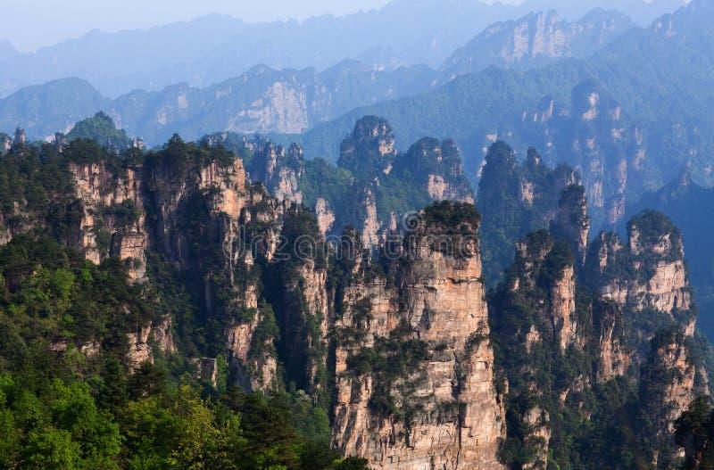 Zhangjiajie Forest Park nacional na prov?ncia de Hunan, China fotografia de stock royalty free