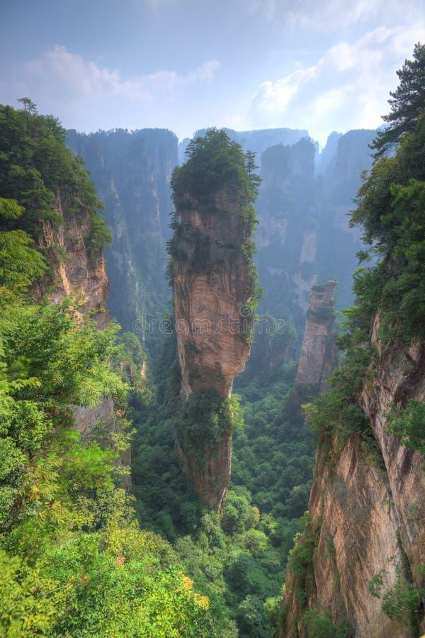 Zhangjiajie Forest Park nazionale Cina fotografia stock libera da diritti
