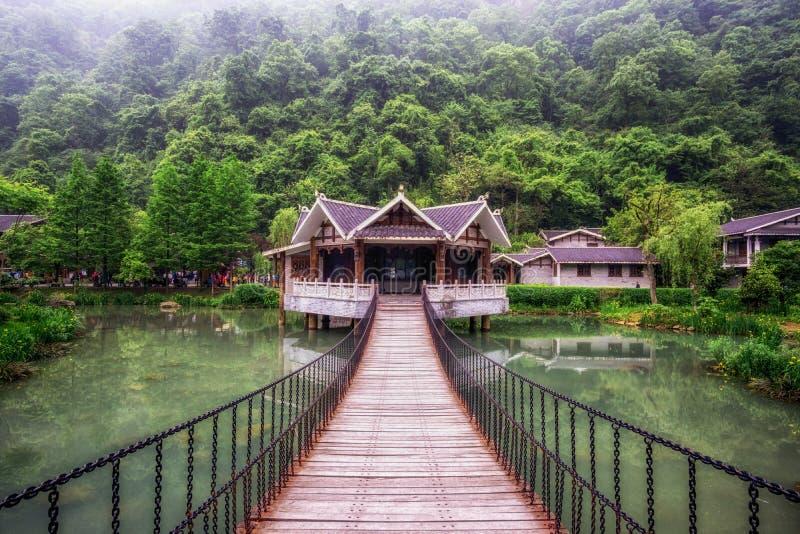 Zhangjiajie huanglongdong toneelgebied royalty-vrije stock afbeelding