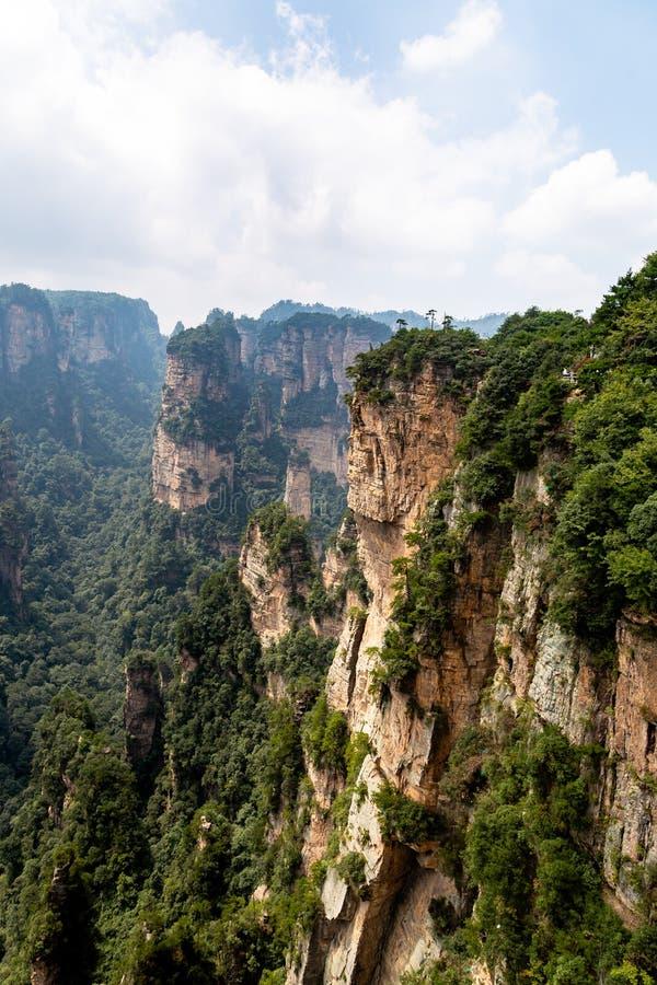 Zhangjiajie, Hunan, China: view from Mi Hun Platform in Yuanjiajie area in the Wulingyuan National Park. Wulingyuan was the inspiration for the movie Avatar stock images