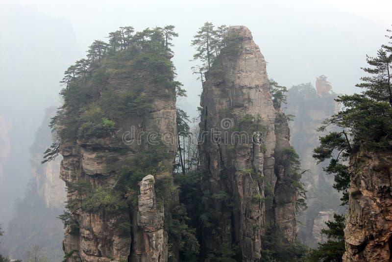 Zhangjiajie Kina, Asien royaltyfri bild