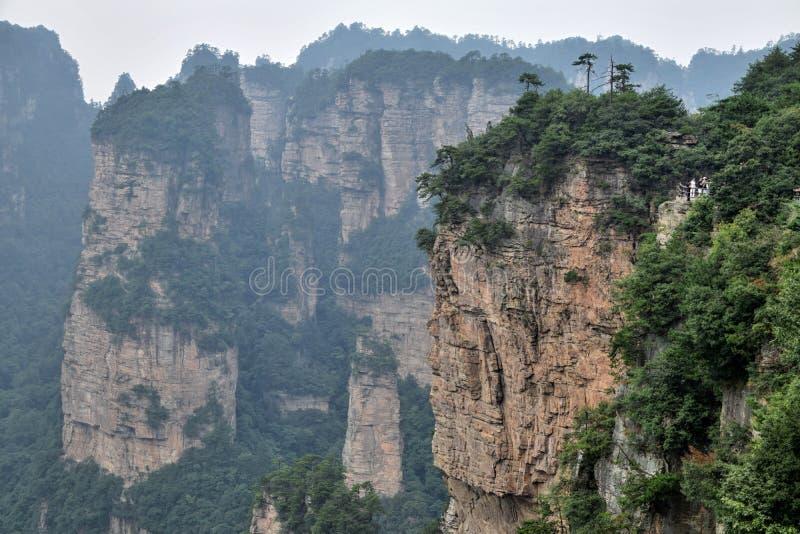 Zhangjiajie le montagne 'Avatar' nella provincia di Hunan in Cina fotografia stock