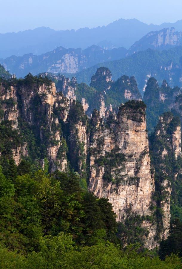 Zhangjiajie medborgare Forest Park i det Hunan landskapet, Kina royaltyfri foto