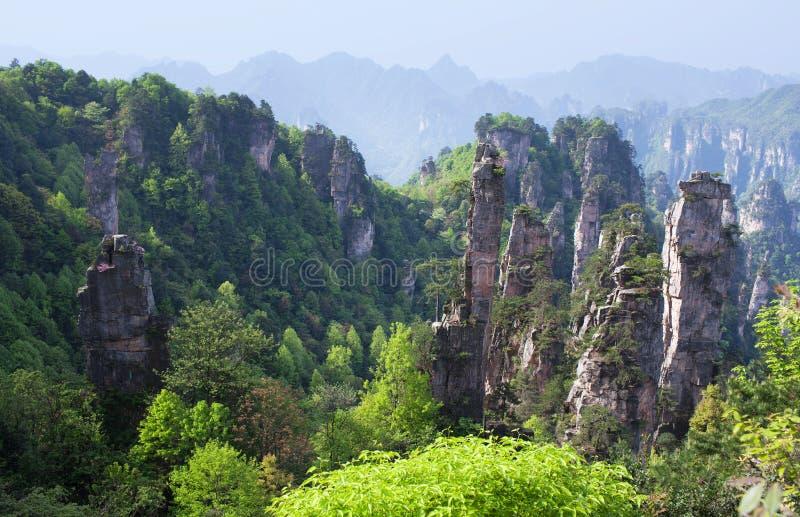 Zhangjiajie medborgare Forest Park i Hunan, Kina arkivfoton