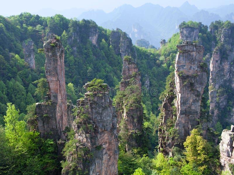 Zhangjiajie medborgare Forest Park i Hunan, Kina fotografering för bildbyråer