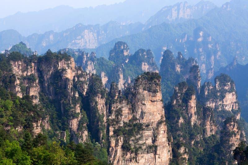 Zhangjiajie medborgare Forest Park i Hunan, Kina arkivbild