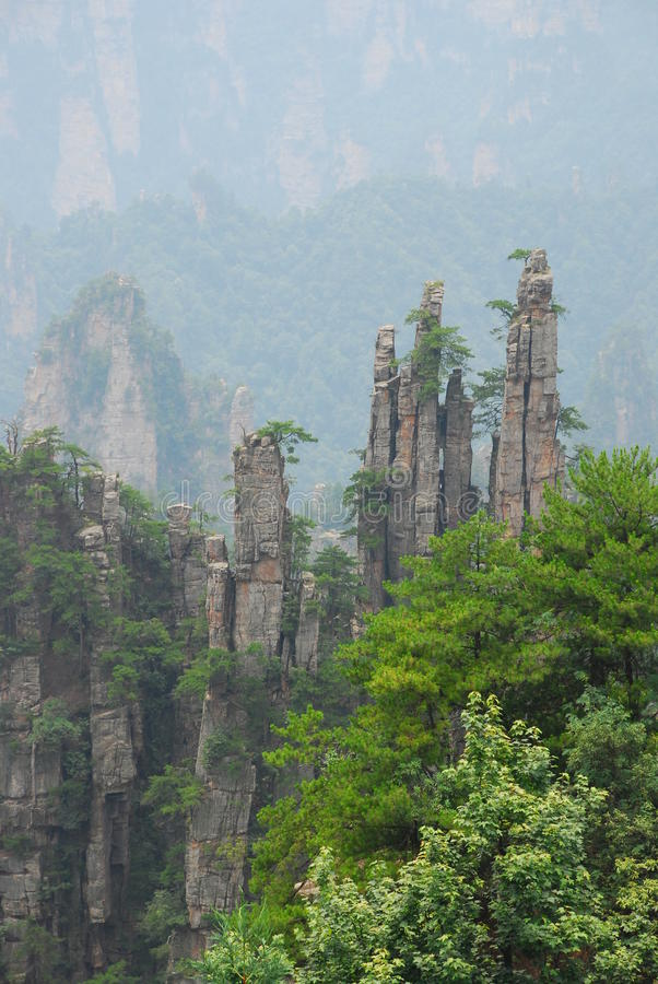 Zhangjiajie mountain royalty free stock image