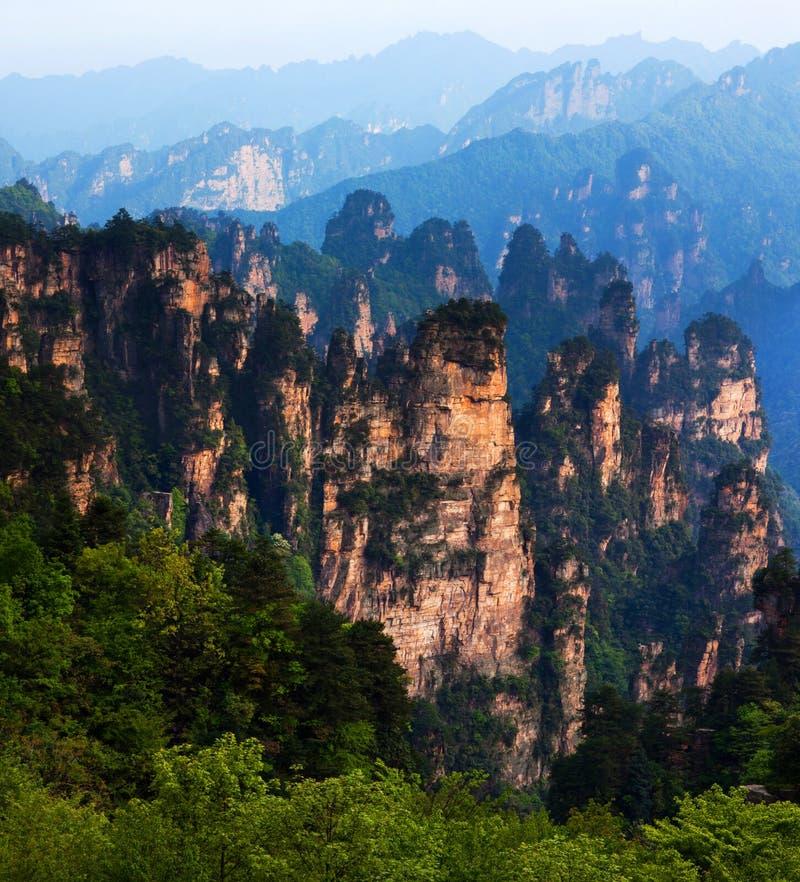 Zhangjiajie Nationaal Forest Park, China stock afbeelding