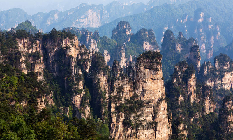 Zhangjiajie Nationaal Forest Park in Hunan, China stock foto