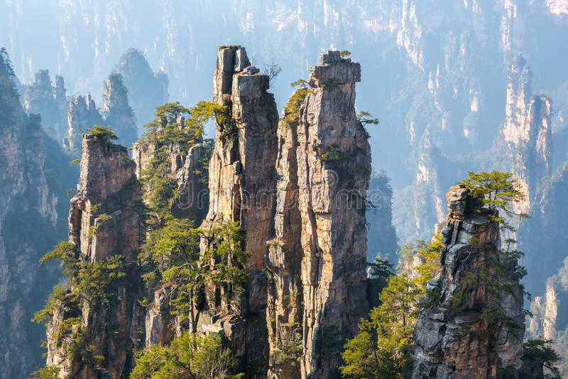 Zhangjiajie National forest park China stock images