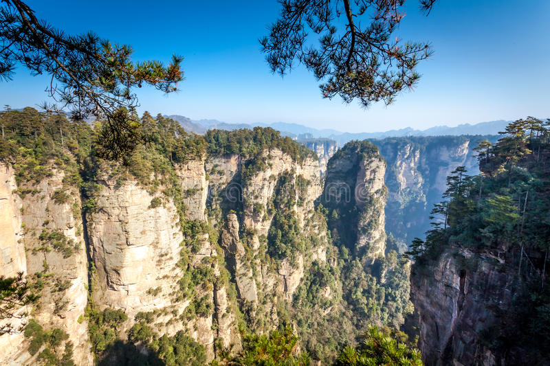 Zhangjiajie National Forest Park in the Wulingyuan Scenic Area, Hunan Province, China stock photography