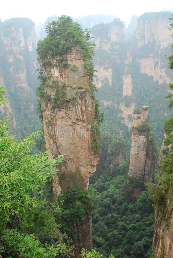 Zhangjiajie southern sky column royalty free stock photos