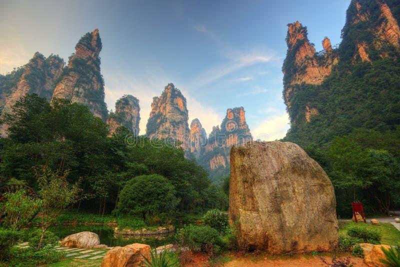 Zhangjiajie-Staatsangehöriger Forest Park lizenzfreies stockbild
