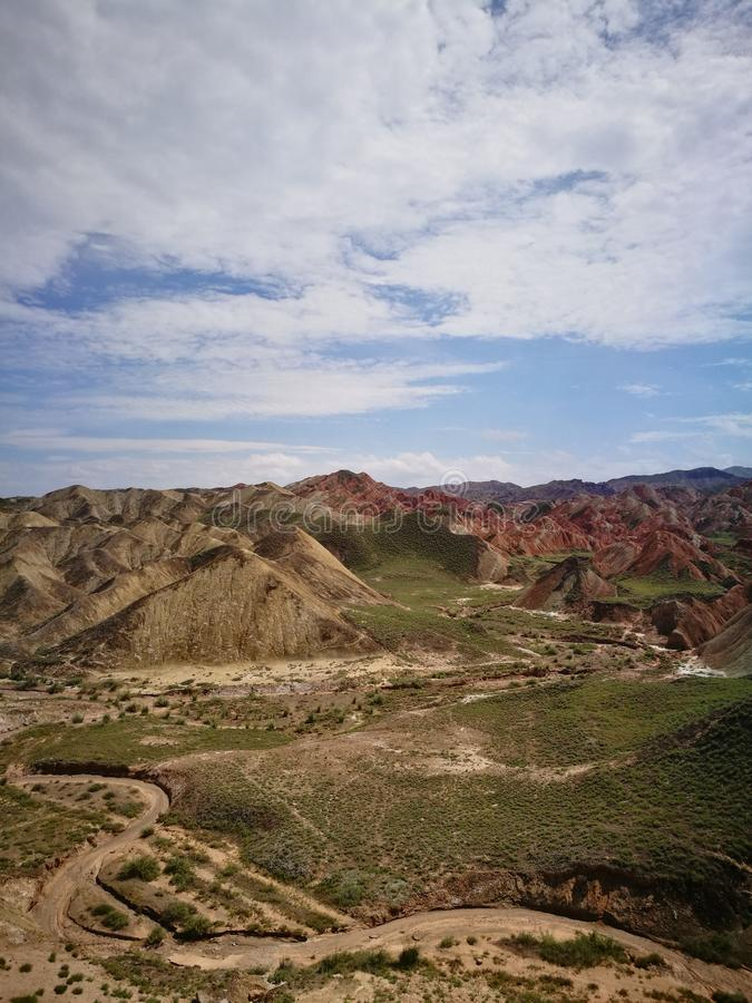 Zhangye Danxia Landform Geological park obraz stock