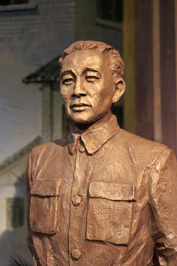 Zhangzhizhong statue. Zhang zhizhong (1890-1969), army general. after the founding of people's republic of china, served as vice chairman of the standing stock images