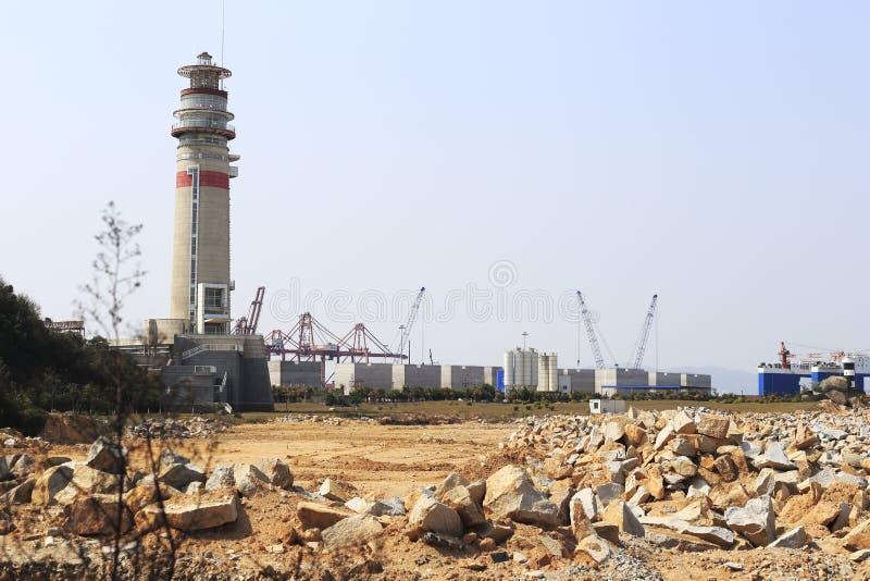 zhangzhou口岸灯塔  免版税库存照片