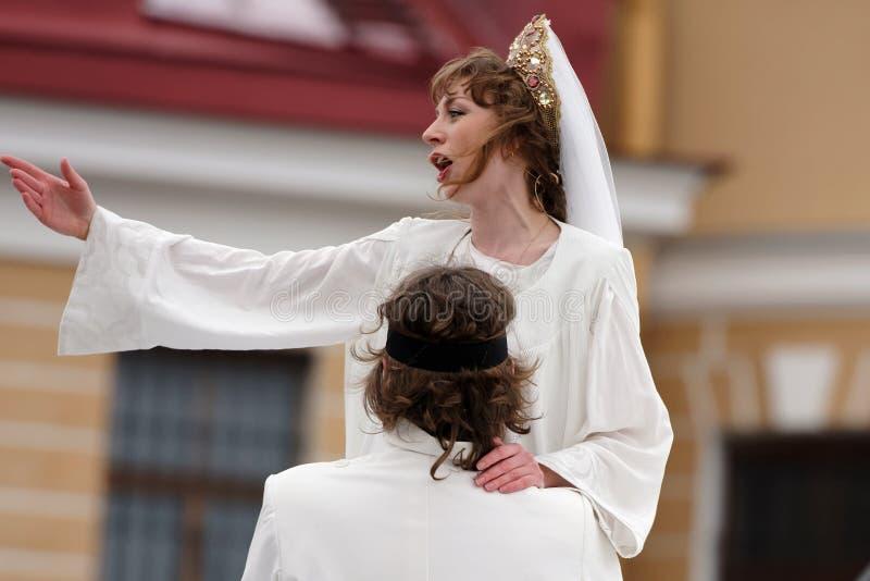 Zhanna Dombrovskaya в опере Ruslan и Lyudmila стоковая фотография rf