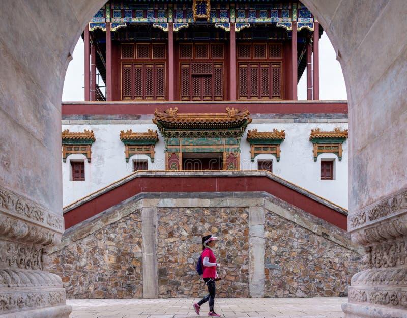 Zhao Temple Xiangshan parkerar, Peking, Kina royaltyfria bilder