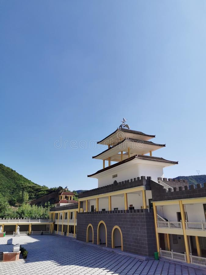 Zhaojia Temple (tour resort) located in Hongdong County, Shanxi Province royalty free stock photos