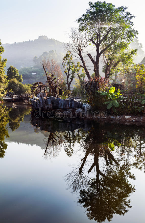 The village of the Guizhou. Zhaoxing liping county is located in southeast guizhou miao autonomous county of guizhou province, the nation`s largest village one stock photos