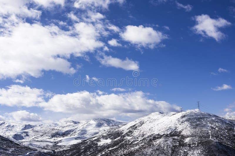 Zheduo góry sceneria zdjęcie stock