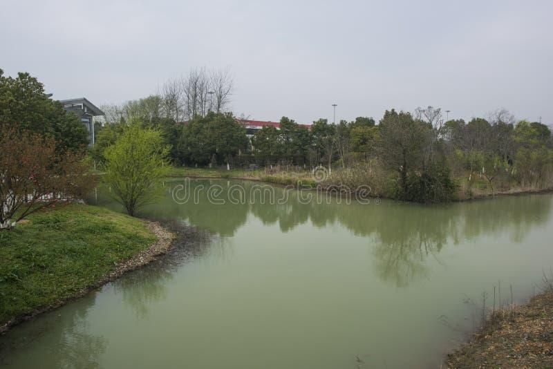 Zhejiang Huzhou changxing le village d'alligator du Yang Tsé Kiang images libres de droits
