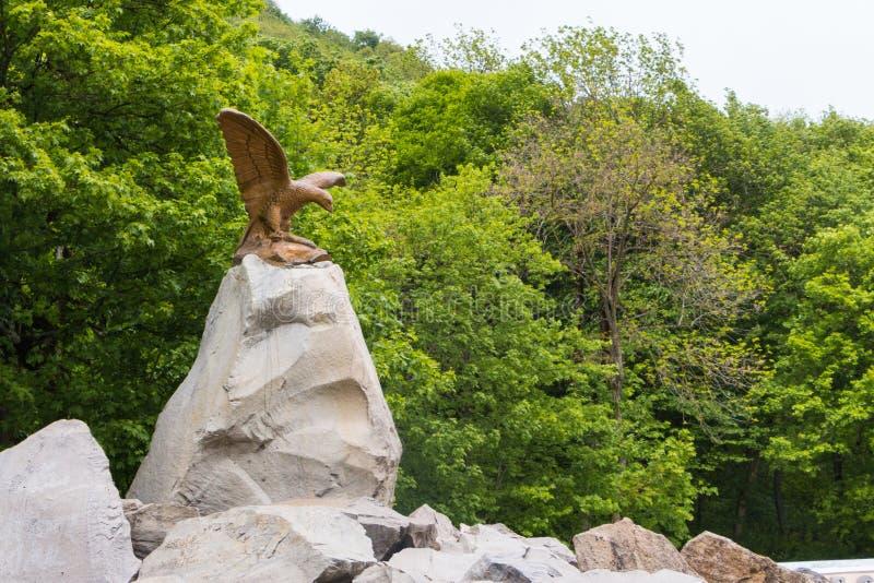 Zheleznovodsky park, Kaukaskie wody mineralne, Rosja miejscowość wypoczynkowa fotografia stock