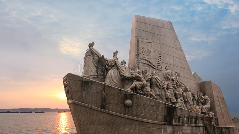 Zheng He's voyages in the South Seas as far as Africa stock image