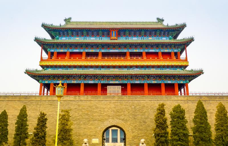 Zhengyang Gate front view royalty free stock image