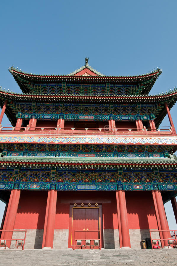 Download Zhengyangmen Gate stock photo. Image of ornamental, chinese - 31571980