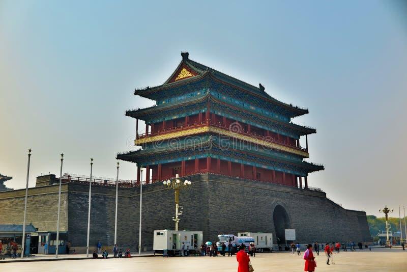 Zhengyangmen in Peking, China lizenzfreies stockbild