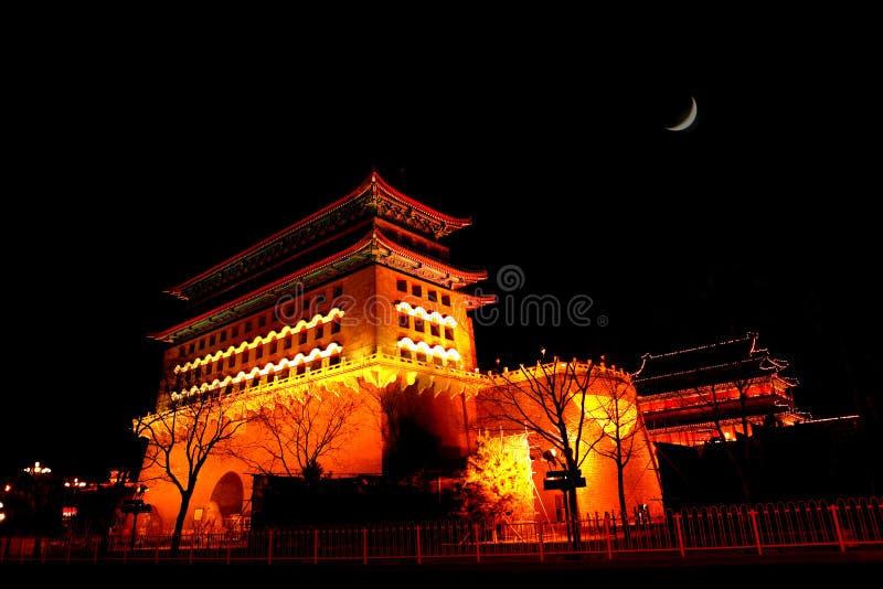 ZhengYangMen Tower Building stock images