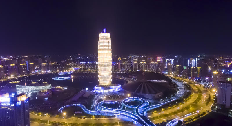 Zhengzhou Κίνα νύχτας στοκ εικόνες με δικαίωμα ελεύθερης χρήσης