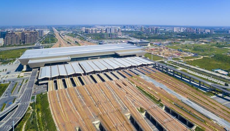 Zhengzhou prędkości staci kolejowej wysoka porcelana fotografia royalty free