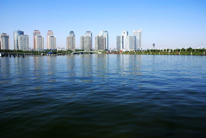Zhengzhou-Stadtbild lizenzfreie stockfotos