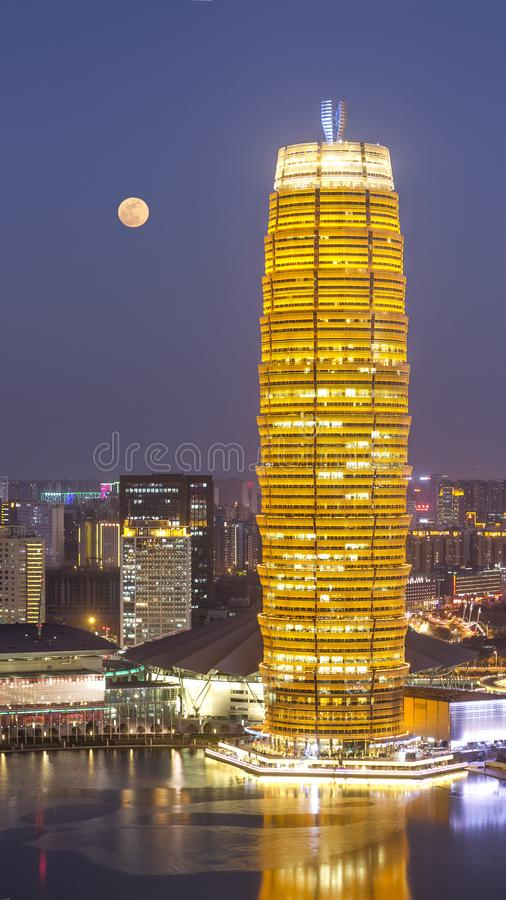 Zhengzhou una città cinese immagine stock libera da diritti